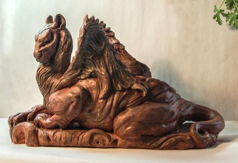Lion Gargoyle by Linda Saboe