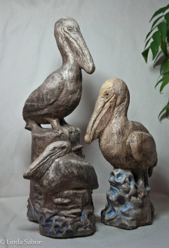 Pelicans by Linda Saboe