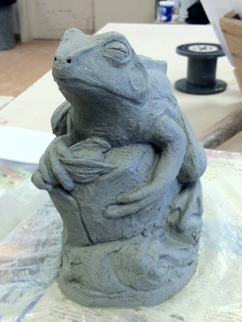 frog (soon to be gargoyle) in progress