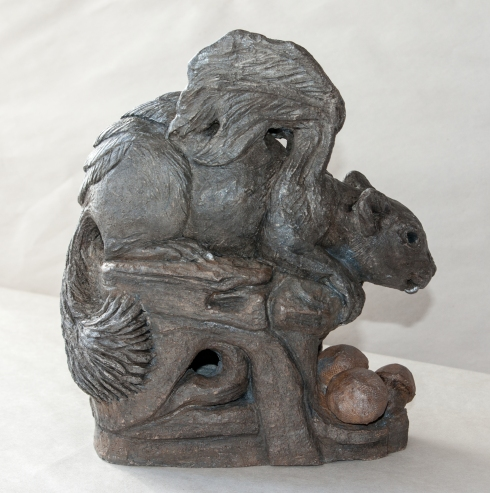 Squirrel Gargoyle by Linda Saboe