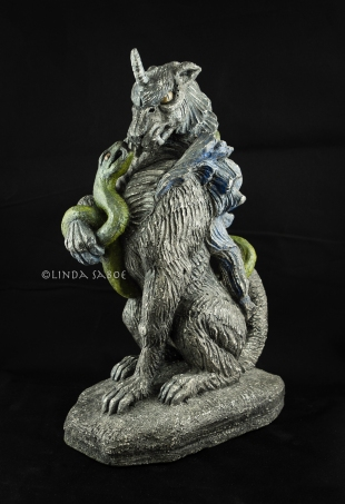 Gargoyle and Her Snake by Linda Saboe